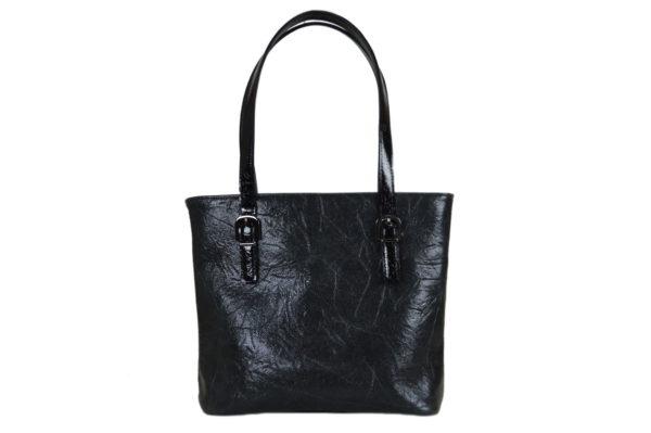Кожаная сумка Amanda Black2 детали 1