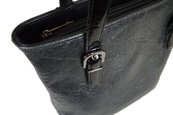 Кожаная сумка Amanda Black2 детали 3