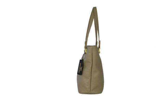 Кожаная сумка на плечо женская ariana sand 1