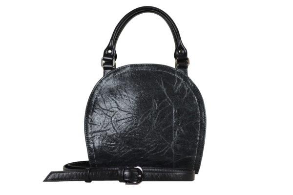 Кожаная сумка Celina Black детали 5