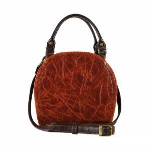Кожаная сумка celina ginger детали 3
