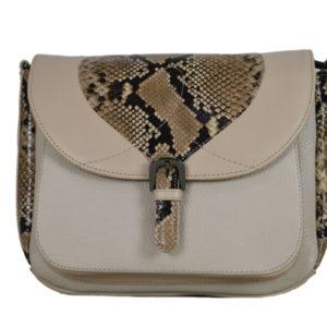 Кожаная бежевая сумка donna-beige