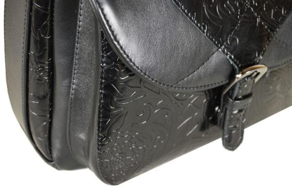 Кожаная сумка Donna Black детали 1.5