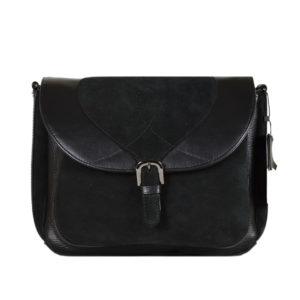 Кожаная сумка Donna Black2 детали 1