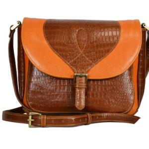 Кожаная коричневая сумка donna-braun