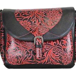 Кожаная красная сумка donna-red