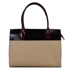 Кожаная сумка gabriella beige2 детали 1