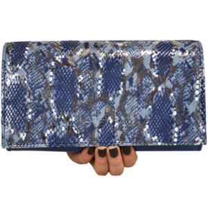 Кожаный клатч Ganine Blue Pekotof ф. 5