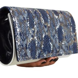Кожаный клатч Ganine Blue2 Pekotof ф. 2