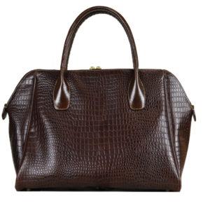Кожаная сумка Grazia Brown Pekotof ф. 4
