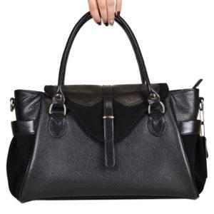 Кожаная сумка Hanna Black детали 1.1