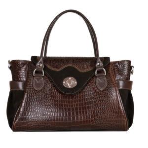 Кожаная сумка Hanna Brown детали 1