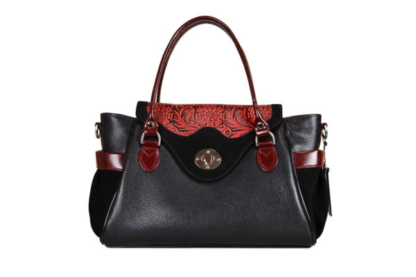 Кожаная сумка Hanna Red детали 1