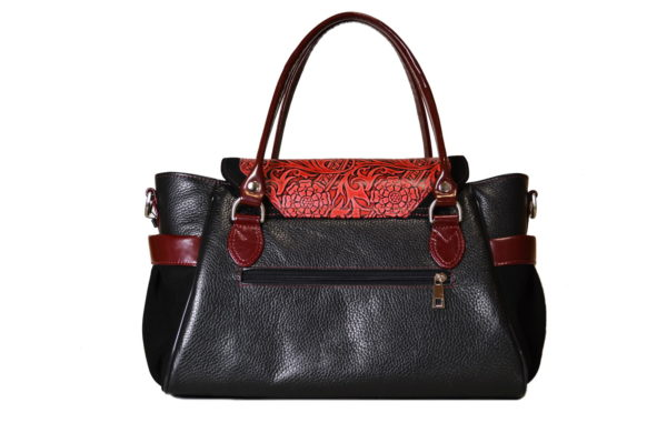 Кожаная сумка Hanna Red детали 3
