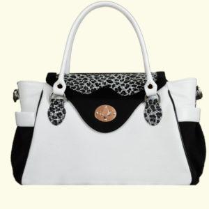 Женская сумка из натуральной кожи hanna, белая