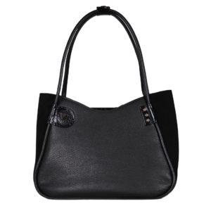 Кожаная сумка lidia black детали 1