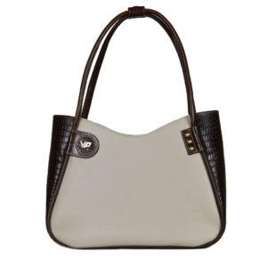 Кожаная сумка lidia gray детали 1