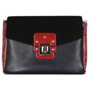 Кожаная сумка Madinna Black детали 1