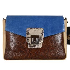 Кожаная сумка Madinna Blue детали 1