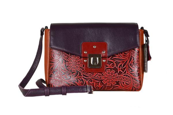 Кожаная сумка Madinna Violet детали 5
