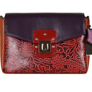 Кожаная сумка Madinna Violet детали 1