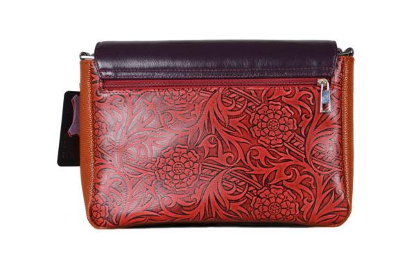 Кожаная сумка Madinna Violet детали 3
