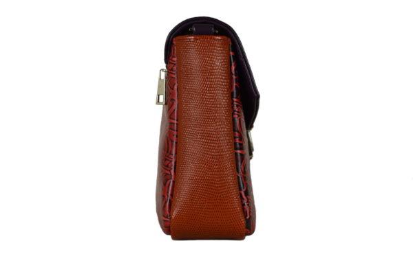 Кожаная сумка Madinna Violet детали 2