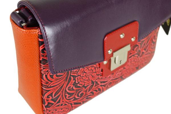 Кожаная сумка Madinna Violet детали 4