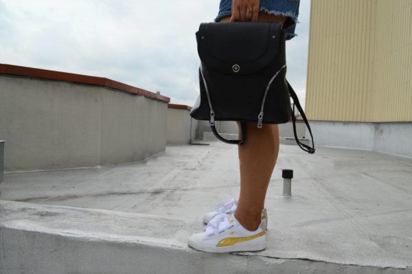 Черный женский рюкзак Мони, кожа детали 3