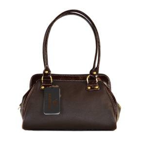Кожаная сумка NINA Brown детали 1
