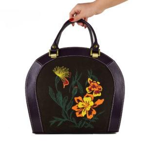 Кожаная сумка roomy flower