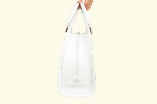 Женская сумка белая roomy-l, детали 3