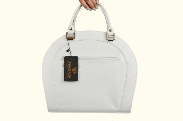 Женская сумка белая roomy-l, детали 2