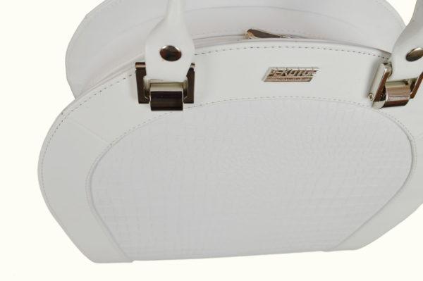 Женская сумка белая roomy-l, детали
