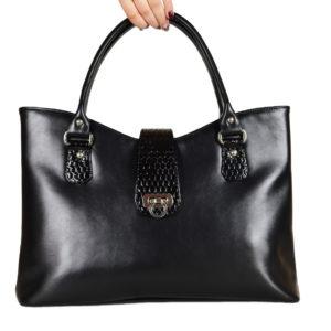 Кожаная сумка Rosso Black детали 1