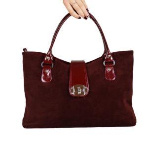 Кожаная сумка Rosso Bordo детали 1