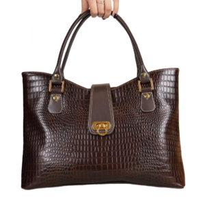 Кожаная сумка rosso brown