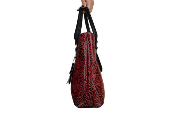 Кожаная сумка rosso-red, детали 3