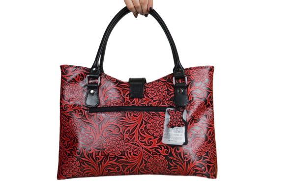 Кожаная сумка rosso-red, детали 2