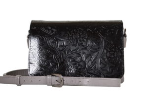 Кожаная сумка shinny black детали 4