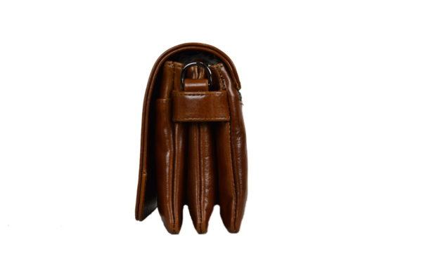Кожаная сумка shinny brown детали 2