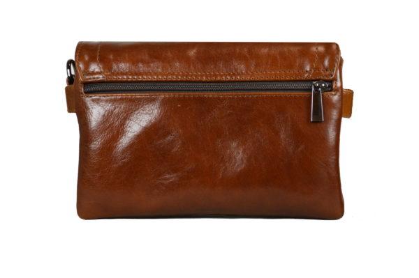 Кожаная сумка shinny brown детали 3
