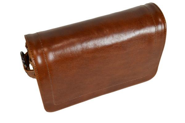 Кожаная сумка shinny brown детали 4