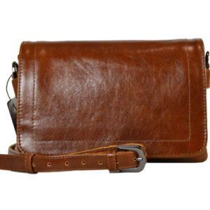 Кожаная сумка shinny brown детали 5