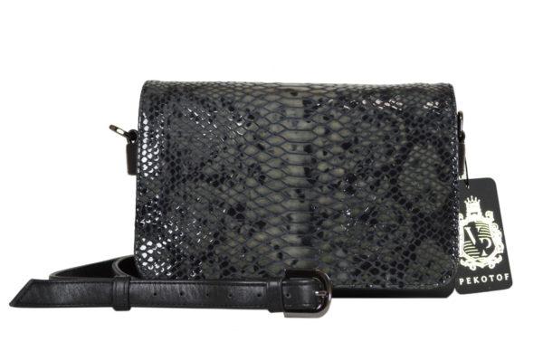 Кожаная сумка Shinny Gray ф. 7