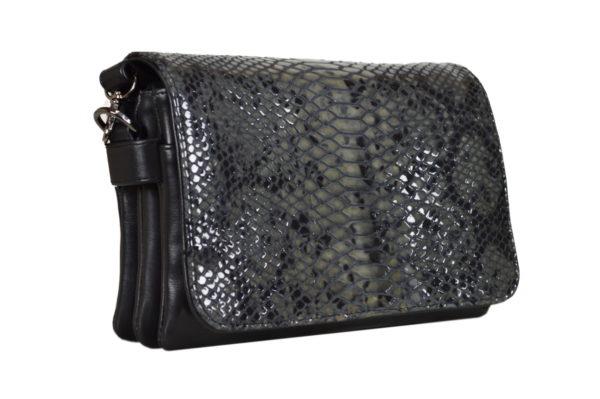 Кожаная сумка Shinny Gray ф. 3