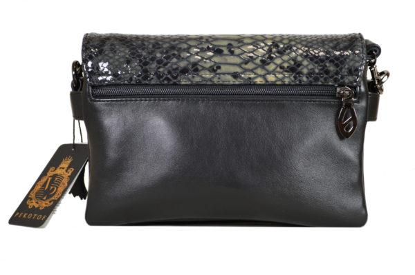 Кожаная сумка Shinny Gray ф. 5