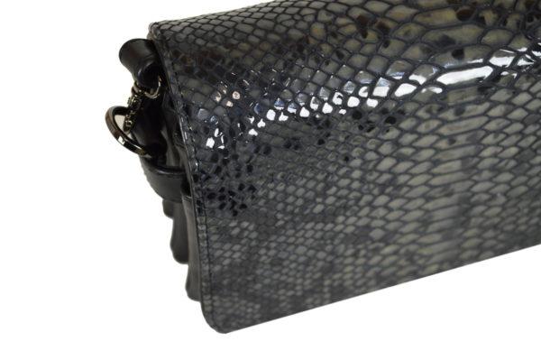 Кожаная сумка Shinny Gray ф. 6