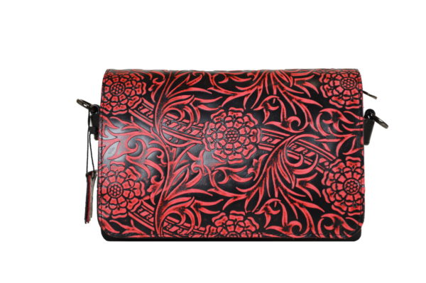 Кожаная сумка shinny red детали 2