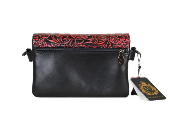 Кожаная сумка shinny red детали 5